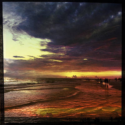 Photograph - Burning Night On Siesta Key  by Alison Maddex