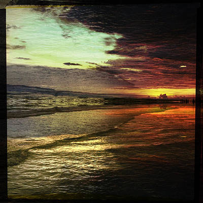 Photograph - Burning Night On Siesta Key II by Alison Maddex