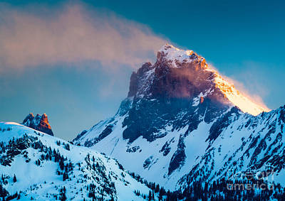 North Cascades Photograph - Burning Peak by Inge Johnsson
