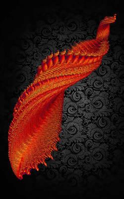 Fractal Digital Art - Burning Phoenix by Betsy Jones