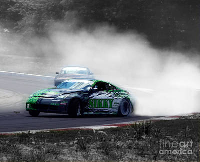 Action Sports Art Digital Art - Burning Rubber To Ashes  by Steven  Digman