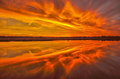 Photograph - Burning Sky by Donnie Smith