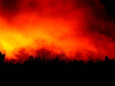 Photograph - Burning Sky by Guy Pettingell