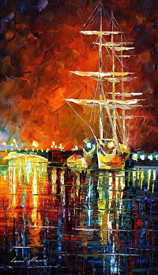 Burning Sky - Palette Knife Oil Painting On Canvas By Leonid Afremov Original
