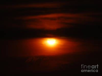 Photograph - Burning Sunset by Debra Thompson