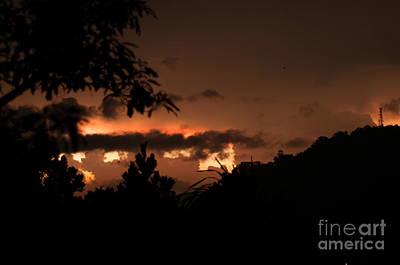 Photograph - Burning Sunset by Venura Herath