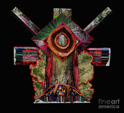 Mound Mixed Media - Burning Tree by Alyssa Hinton