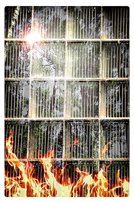 Photograph - Burning Window by Davina Washington