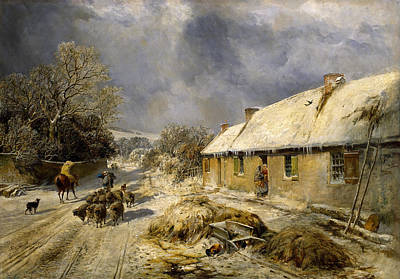 Robbies Painting - Burnss Cottage, Alloway, 1876 by Samuel Bough