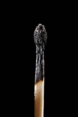 Charred Wall Art - Photograph - Burnt Matchstick by Science Photo Library