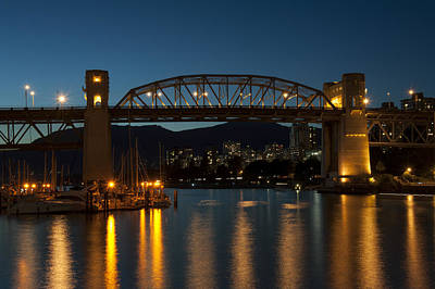 Burrard Bridge In The Evening Art Print