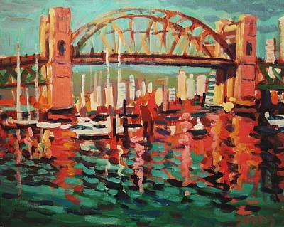 Burrard St. Bridge Art Print by Brian Simons