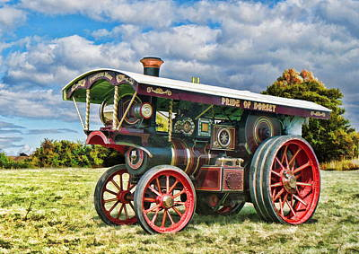Digital Art - Burrell Showmans Engine by Paul Gulliver