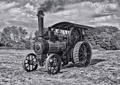 Digital Art - Burrell Steam Engine Mono by Paul Gulliver