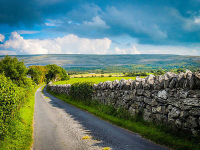 Photograph - Burren Country Road In Ireland's County Clare by James Truett