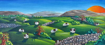 Painting - Burren Sheep by Olivier Longuet