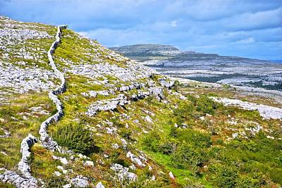 Photograph - Burren Stonewall by Charlie Brock