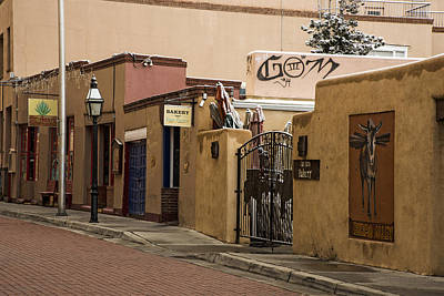 Photograph - Burro Alley In Santa Fe New Mexico by Dave Dilli