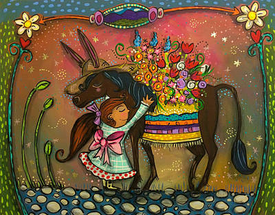 Painting - Burro Hugs by Marti McGinnis