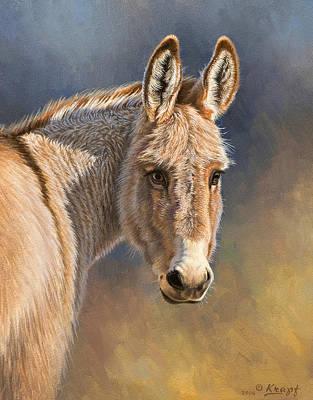 Burros Painting - Burro by Paul Krapf