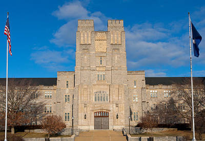 Photograph - Burruss Hall At Virginia Tech by Melinda Fawver