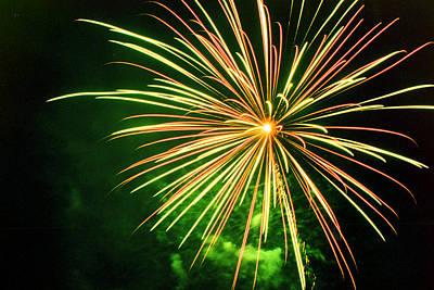 4th Of July Fireworks 6 Art Print by Howard Tenke