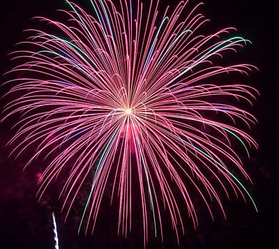 4th Of July Fireworks 24 Art Print by Howard Tenke