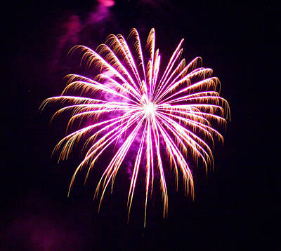 4th Of July Fireworks 25 Art Print by Howard Tenke