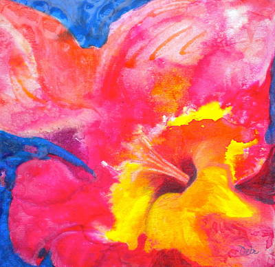 Abstract Floral Compositions Mixed Media - Burst 2 by Debi Starr