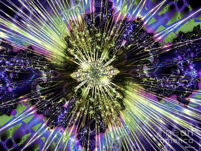 Fractal Digital Art - Burst by Elizabeth McTaggart
