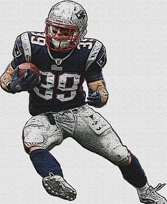 American Football Digital Art - Burst Of Energy. by VRL Art