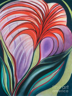 Pastel - Bursting Blossoms by Birgit Seeger-Brooks