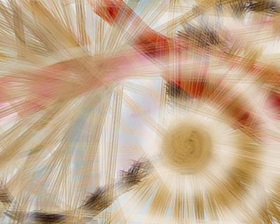 Bursting Brushes Art Print