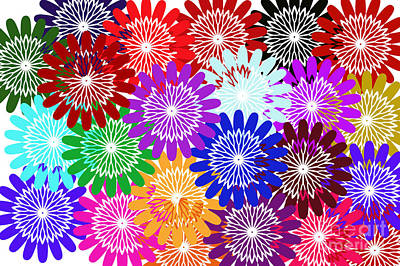 Digital Installation Art Photograph - Bursts Of Happiness by Tina M Wenger