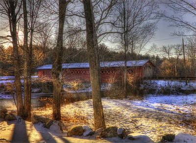 Photograph - Burt Henry Covered Bridge - Vermont by Joann Vitali