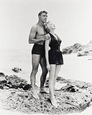 Eternity Photograph - Burt Lancaster In From Here To Eternity  by Silver Screen