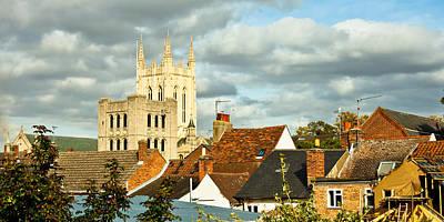 Rooftop Photograph - Bury St Edmunds by Tom Gowanlock