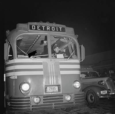 Greyhound Photograph - Bus Driver, 1943 by Granger
