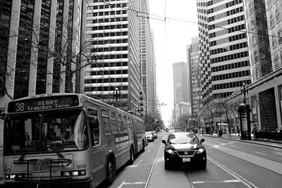 Bus In Streets Of San Francisco Original