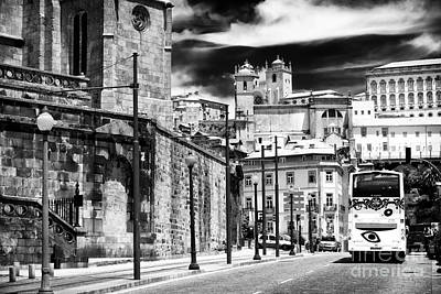 Old School Bus Photograph - Bus Ride In Porto by John Rizzuto