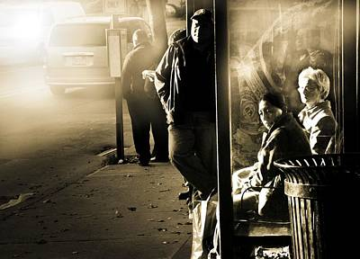 Port Chester Photograph - Bus Stop by Diana Angstadt
