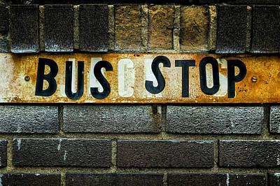 Busstop Photograph - Bus Stop by Jeff Burton