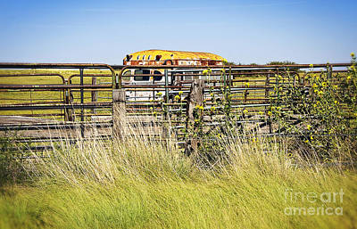 Photograph - Bus Stop On Route 66 In Oklahoma by Lee Craig
