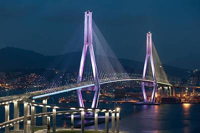 Busan Bridge Art Print by Keith Homan