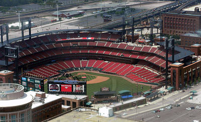 Tom Woolworth Photograph - Busch Memorial Stadium by Thomas Woolworth