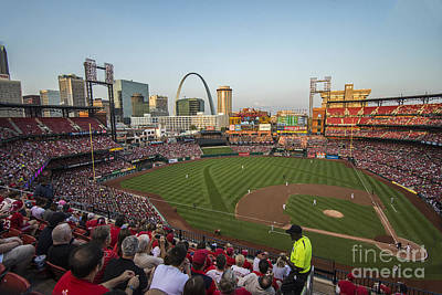 Photograph - Busch Stadium Cardinals 2 by David Haskett II
