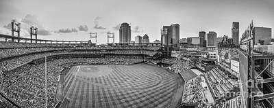 Photograph - Busch Stadium Cardinals Pano by David Haskett II