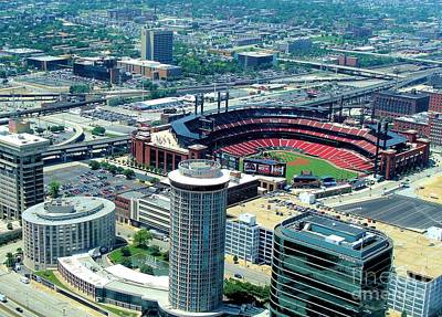 Photograph - Busch Stadium From The Top Of The Arch by Janette Boyd