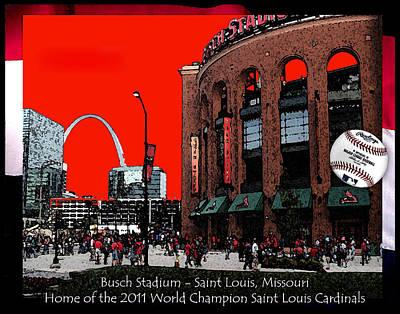 Busch Stadium Art Print