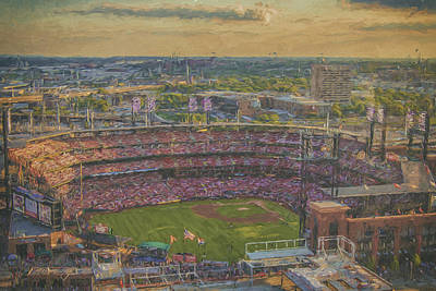 Photograph - Busch Stadium St. Louis Cardinals Paint 2 by David Haskett II